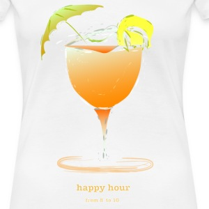 happy hour cocktail T-Shirts - Women's Premium T-Shirt