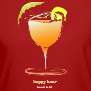 happy hour cocktail Magliette - T-shirt ecologica da donna