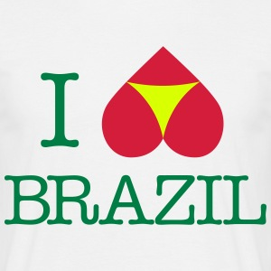 I love Brazil !!! Coupe du Monde de Foot 2014 !!! - T-shirt Homme