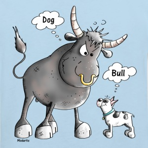 Bulle Vs Französische Bulldogge - Cartoon T-Shirts - Kinder Bio-T-Shirt