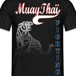 muay thai tiger fighting Tee shirts - T-shirt Homme