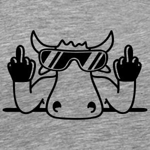 Fuck off you offend middle finger Bull T-Shirts - Men's Premium T-Shirt