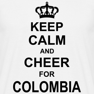 keep_calm_and_cheer_for_colombia_g1 T-Shirts - Männer T-Shirt