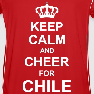 keep_calm_and_cheer_for_chile_g1 T-shirts - Fotbollströja herr
