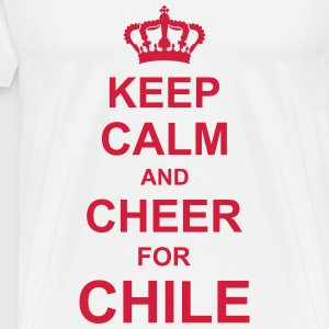 keep_calm_and_cheer_for_chile_g1 T-Shirts - Men's Premium T-Shirt