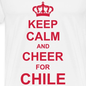 keep_calm_and_cheer_for_chile_g1 T-Shirts - Männer Premium T-Shirt