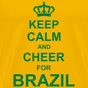keep_calm_and_cheer_for_brazil_g1 T-Shirts - Men's Premium T-Shirt
