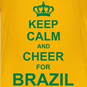 keep_calm_and_cheer_for_brazil_g1 T-Shirts - Teenager Premium T-Shirt