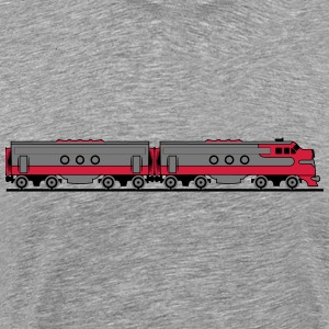 Train railway diesel locomotive wagons T-Shirts - Men's Premium T-Shirt