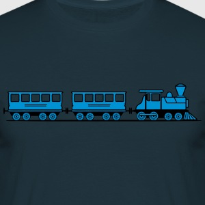 Train railroad steam locomotive wagons T-Shirts - Men's T-Shirt