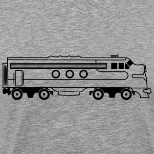 Train railway diesel locomotive T-Shirts - Men's Premium T-Shirt