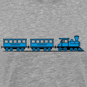 Train railroad steam locomotive wagons T-Shirts - Men's Premium T-Shirt
