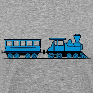 Train steam locomotive railway wagon T-Shirts - Men's Premium T-Shirt