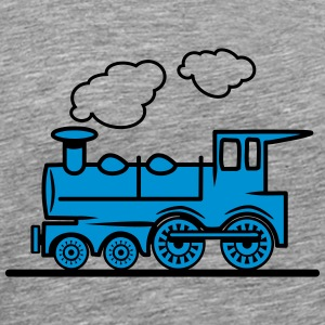 Train railroad steam locomotive T-Shirts - Men's Premium T-Shirt