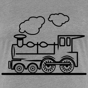 Train railroad steam locomotive T-Shirts - Women's Premium T-Shirt