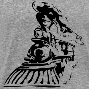 Western train T-Shirts - Men's Premium T-Shirt
