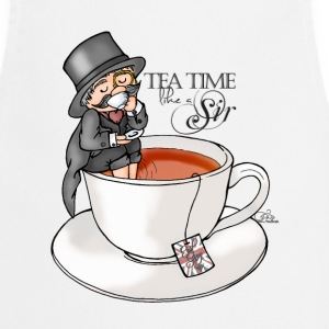 White tea time like a Sir with Earl Grey (text)  Aprons - Cooking Apron