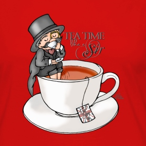 Rouge tea time like a Sir with Earl Grey (text) Manches longues - T-shirt manches longues Premium Femme