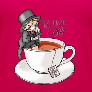 Rosado oscuro tea time like a Sir with Earl Grey (text) Tops - Camiseta de tirantes premium mujer