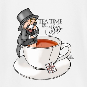 Blanc tea time like a Sir with Earl Grey (text) Manches longues - T-shirt manches longues Bébé