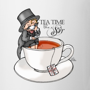 tea time like a Sir with Earl Grey (text) Flaschen & Tassen - Tasse