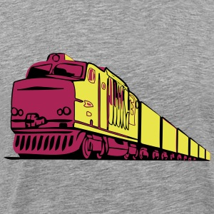 Freight railway locomotive T-Shirts - Men's Premium T-Shirt