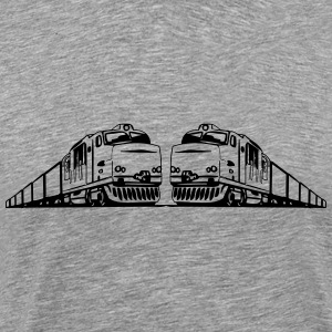 Freight train railway T-Shirts - Men's Premium T-Shirt