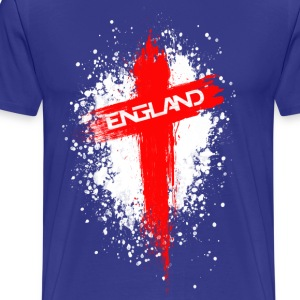 England Painted-Red T-Shirts - Men's Premium T-Shirt