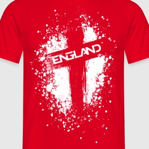 England Painted-White T-Shirts - Men's T-Shirt