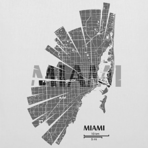 Miami Map Bags & Backpacks - Tote Bag