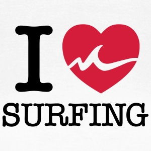 I Love Surfing T-skjorter - T-skjorte for kvinner