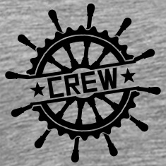 Crew steering wheel stamp logo T-Shirts