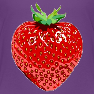 Paars Erdbeere Strawberry Shirts - Kinderen Premium T-shirt