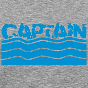 Captain water waves logo T-Shirts - Men's Premium T-Shirt
