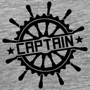 Captain steering wheel stamp logo T-Shirts - Men's Premium T-Shirt