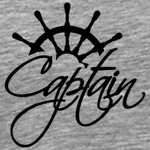 Captain steering wheel rank logo T-Shirts - Men's Premium T-Shirt