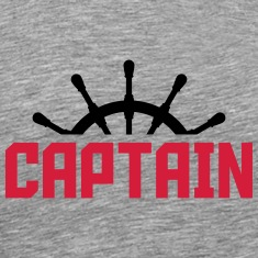 Captain steering wheel design T-Shirts