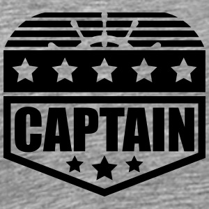 Captain steering wheel badge rank T-Shirts - Men's Premium T-Shirt