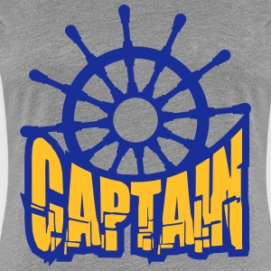 Captain rank badge steering wheel T-Shirts - Women's Premium T-Shirt