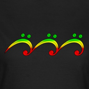 Reggae, music, notes, bass clef, wave, surf,  T-Sh - Frauen T-Shirt