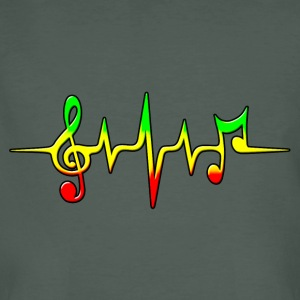 Reggae, music, notes, pulse, frequency, Rastafari T-Shirts - Men's Organic T-shirt