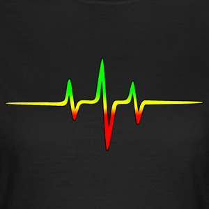 Reggae, music, notes, pulse, frequency, Rastafari  - Frauen T-Shirt