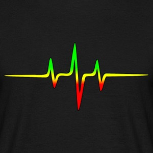 Reggae, music, notes, pulse, frequency, Rastafari T-shirts - T-shirt herr