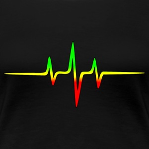 Reggae, music, notes, pulse, frequency, Rastafari  - Frauen Premium T-Shirt