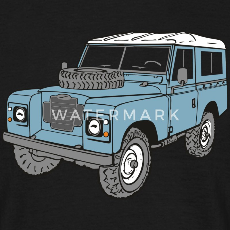 Land Rover Landie 4x4 Off Road Series 3 88 Tee shirts - T-shirt Homme