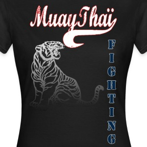 muay thai tiger fighting Tee shirts - T-shirt Femme