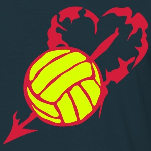 volleyball coeur love perse fleche Tee shirts - T-shirt Homme