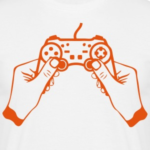 manette jeux main paddle joystick game 2 Tee shirts - T-shirt Homme