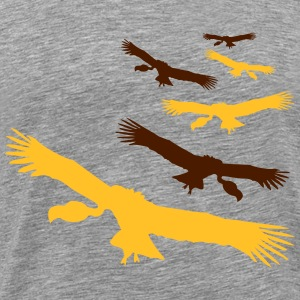 Flying circling vultures pattern T-Shirts - Men's Premium T-Shirt