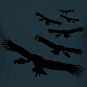 Flying circling vultures pattern T-Shirts - Men's T-Shirt